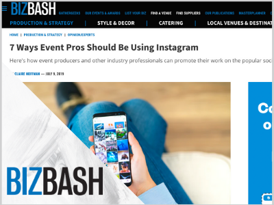 Instagram tips for event pros