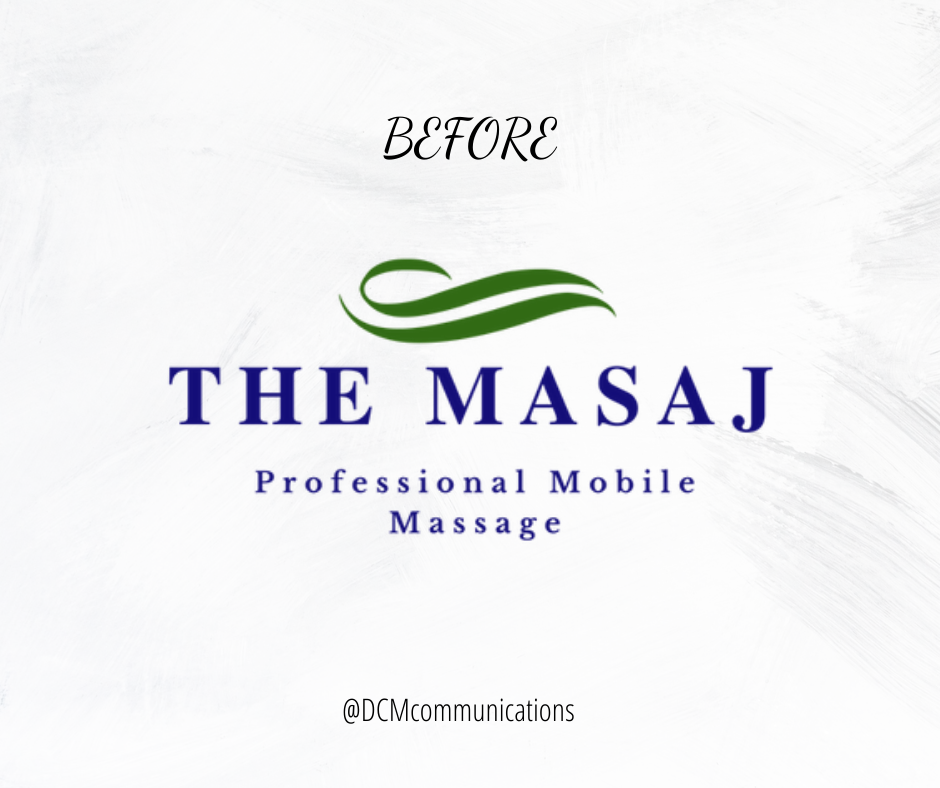 the before picture of massage logo