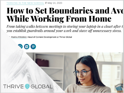 contributing writer for Thrive Global