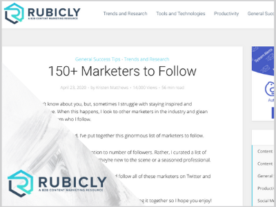 150 marketers to follow